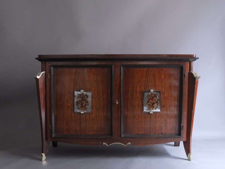 French Art Deco Rosewood Buffet-Bar – Conjeaud & Chappey