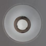1078-Lustre moderniste Genet Michon cylindre trois disques (10)
