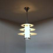 1078-Lustre moderniste Genet Michon cylindre trois disques (15)