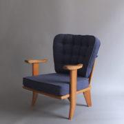 1027- Paire de petits fauteuils G&C bleus (2)