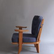 1027- Paire de petits fauteuils G&C bleus (3)
