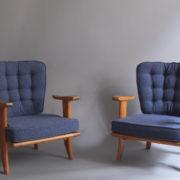 1027- Paire de petits fauteuils G&C bleus (6)