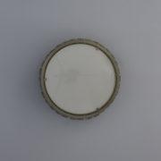 1571-Petit plafonnier tambour Perzel paves de verre chrome 35 (3)