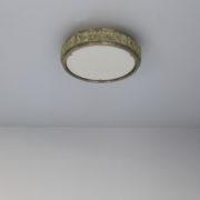 1571-Petit plafonnier tambour Perzel paves de verre chrome 35 (9)