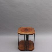 1564-Gueridon octogonal aveyronnais bois metal (11)