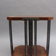 1564-Gueridon octogonal aveyronnais bois metal (13)