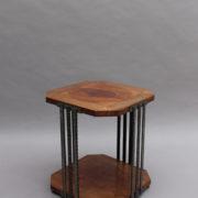 1564-Gueridon octogonal aveyronnais bois metal
