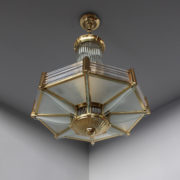 1448-Lustre Petitot octogonal dore (3)