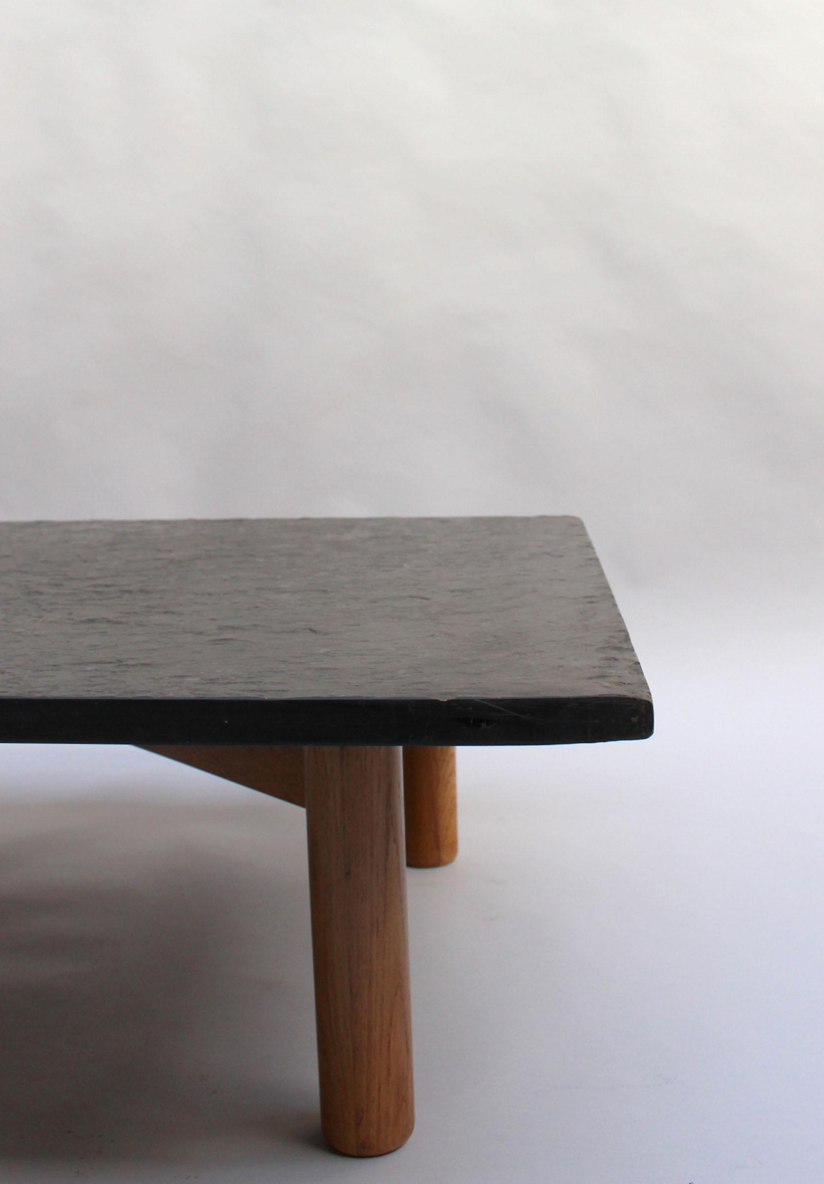 1594 Table Basse Bois Ardoise 10