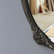 1667-Miroir rond rocaille 5