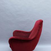 1088A-Fauteuil italien velours rouge 16 (5)