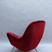 1088A-Fauteuil italien velours rouge 16 (6)