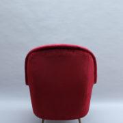 1088A-Fauteuil italien velours rouge 16 (7)