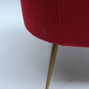 1088A-Fauteuil italien velours rouge 16 (8)