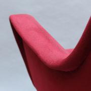 1088A-Fauteuil italien velours rouge 16 (9)