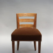 1652-Paire chaises Dominique W.H dossier bas 1
