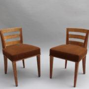 1652-Paire chaises Dominique W.H dossier bas 18