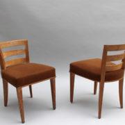 1652-Paire chaises Dominique W.H dossier bas 19