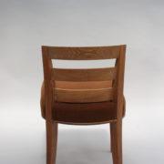 1652-Paire chaises Dominique W.H dossier bas 5