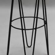 1633-3tabourets de bar rotin metal noir 10