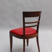 1600-8 chaises 2 bridges acajou cuir rouge 21