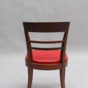 1600-8 chaises 2 bridges acajou cuir rouge 22