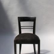 1629-4 chaises 2 bridges noirs att. Adnet 1