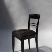 1629-4 chaises 2 bridges noirs att. Adnet 2