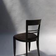 1629-4 chaises 2 bridges noirs att. Adnet 4