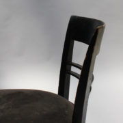 1629-4 chaises 2 bridges noirs att. Adnet 6