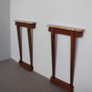 1468-Paire de consoles pieds beaux marbre (17)