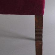 1005- 4 chaises Dudouyt violettes