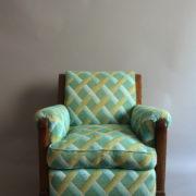 1094-Paire fauteuils clubs a carreaux verts (2)