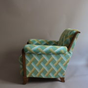 1094-Paire fauteuils clubs a carreaux verts (5)