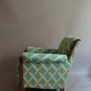 1094-Paire fauteuils clubs a carreaux verts (6)