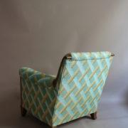 1094-Paire fauteuils clubs a carreaux verts (7)