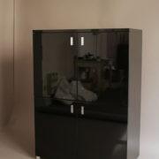 1153-Meuble 70's laque noire (11)