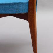 1624-6Chaises bleues 50's cadre detache 4