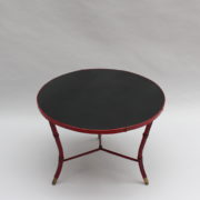 1733_Gueridon rond Adnet cuir sellier rouge00001