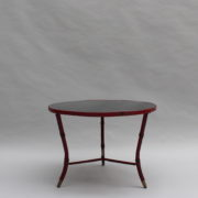 1733_Gueridon rond Adnet cuir sellier rouge00005