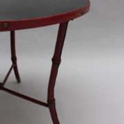1733_Gueridon rond Adnet cuir sellier rouge00009