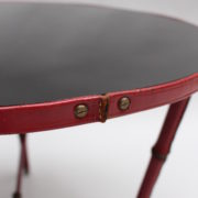 1733_Gueridon rond Adnet cuir sellier rouge00010