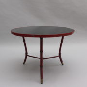 1733_Gueridon rond Adnet cuir sellier rouge00012