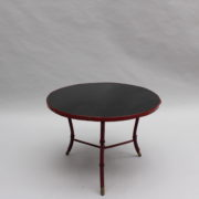 1733_Gueridon rond Adnet cuir sellier rouge00013
