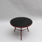 1733_Gueridon rond Adnet cuir sellier rouge00014