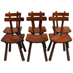 1737-6 chaises lamelle colle Main