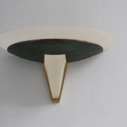 1743a-2 appliques Perzel V en verre patine vert fonce00009