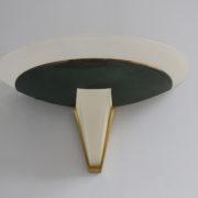 1743a-2 appliques Perzel V en verre patine vert fonce00010