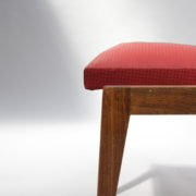 1761-4 chaises 50s skai rouge petits carres (13)