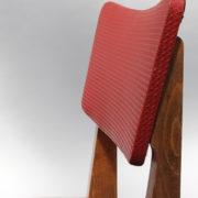 1761-4 chaises 50s skai rouge petits carres (15)